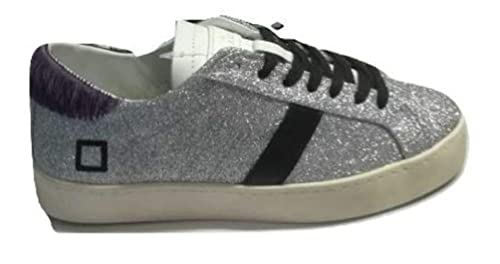 fad92cd1a8aaf E Amazon Low Donna D Date Silver Glitter Sneakers Hill it T A ATvfwqnHE