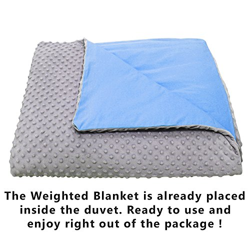 CMFRT Cozy Weighted Blanket Set w/Duvet Cover for Teens - Get Quality Rest, Great for Anxiety, ADHD, Autism, OCD and Stress Relief - (48'' x 78'' - 12 lb) (Perfect for 100 lb teens), 52303 by CMFRT (Image #8)