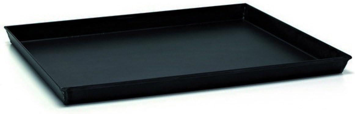 Backblech rechteckig Eisen blau mit Ecken Kom/ödiant Durchmesser 35 x 28 cm