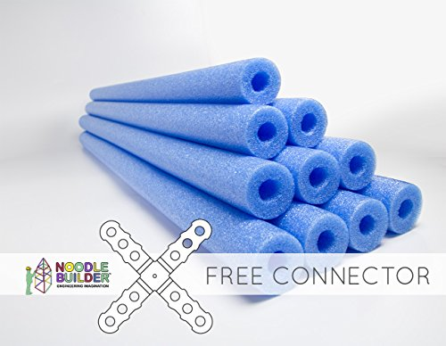 - Oodles of Noodles Deluxe Foam Pool Swim Noodles - 10 Pack Blue 52 Inch Wholesale Pricing Bulk Pack and Free Connector