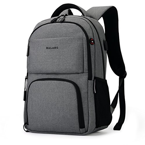 BALANG Laptop College Backpack, Work School Business Computer Daypack with Anti Theft Pocket (Dark Gray)