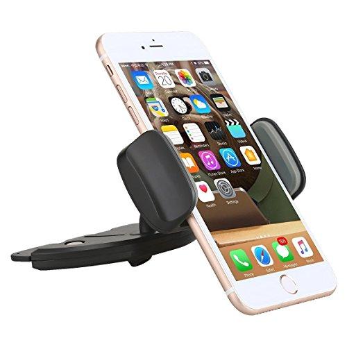 Car Mount, AEDILYS Universal 360 Easy CD Slot GPS Phone Car Mount Holder Cradle for Iphone 6 Plus/6 5 4 Samsung Galaxy Note Nexus Lg Nokia Moto Oneplus HTC Etc / Larger GPS