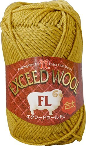 Exceed wool FL Juta Yarn Yellow series 40 g 120 m 5 pieces set