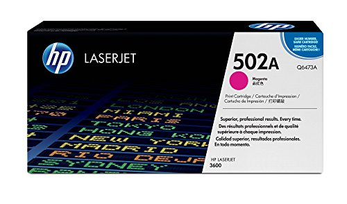 - HP 502A (Q6473A) Magenta Toner Cartridge for HP Color LaserJet 3600