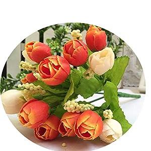 Artificial Flowers 15 Heads Rose Silk Flowers Arrangement for Weeding Leaf Home Decor Bridal Bouquet Fake Flower B 49