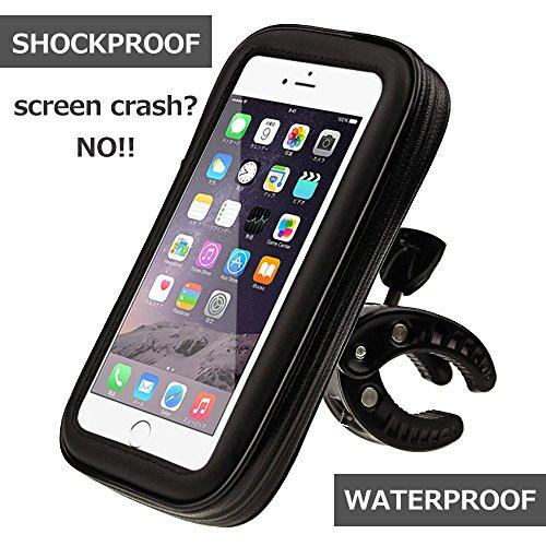 Motor Mount Base - N.ORANIE Waterproof Phone Mount Holder for Bike Bicycle Motorcycle Handlebar Shockproof Bag Case for Cell Phones (Black L Size)