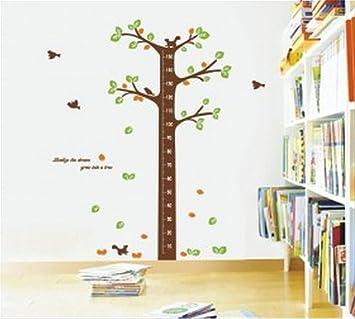 Amazon com wallstickersusa wall sticker decal tree growth chart