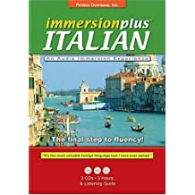 Immersionplus Italian Complete Set: 3 CD's. 2 Listening Guides. The Final Step to Fluency