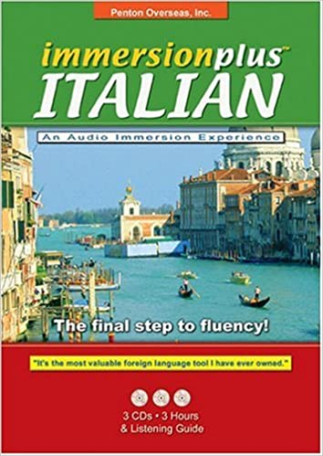 Immersionplus Italian Complete Set 3 CDs 2 Listening Guides The Final Step to Fluency