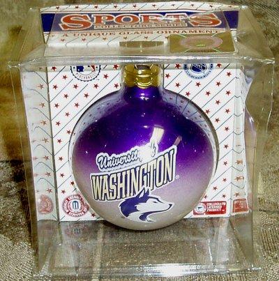 Sports Collectors Glass Ornament - University of Washington Huskies Unique Glass Ornament