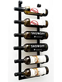 vintageview le rustique wine rack in satin black