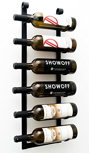 VintageView Le Rustique Wine Rack in Satin Black