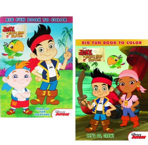 Disney® Jake and the Neverland Pirates Coloring and Activity Book Set - (2 Books ~ 96 pgs (Jake And The Neverland Pirates Cubby)