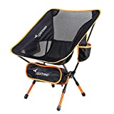 Ultralight Portable Folding Camping Chair, 1-Pack of Sportneer Backpacking Chair, Compact and Heavy Duty Outdoors, BBQ, Beach, Travel, Picnic, Festival with 2 Storage Bags and Carry Bag