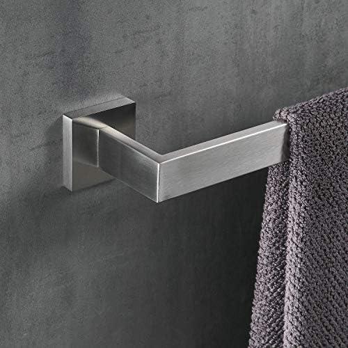 40cm Towel Rail Wall Mounted Bathroom Towel Bar Single Towel Holder, Nickel Brushed,Beelee BA19901N40