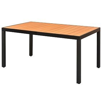 Prächtig vidaXL Gartentisch Alu WPC Aluminium Esstisch Balkon Tisch #FC_67