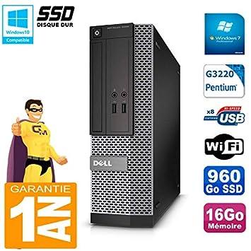 Dell PC 3020 SFF Intel G3220 RAM 16 GB Disco 960 GB SSD grabadora ...