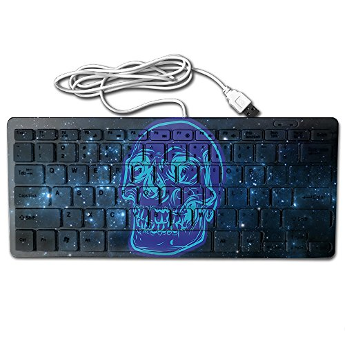 Skull Drawing Vector Halloween Ultra-Slim 78 Keys Gaming Keyboard Can Apply Or Be Used Universally ()
