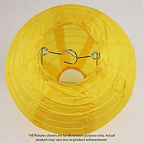 Just Artifacts Decorative Round Chinese Paper Lanterns 24pcs Assorted Sizes (Color: Pineapple Yellow) by Just Artifacts (Image #4)