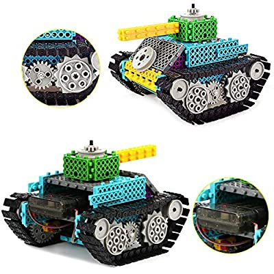 IAMGlobal Robotic Kit, Remote Control Tank Building Blocks, Robot STEM Toy, Building Bricks Toy Kit, Remote Control Machine Educational Learning Robot Kits for Boys Girls (Tank Kit): Toys & Games