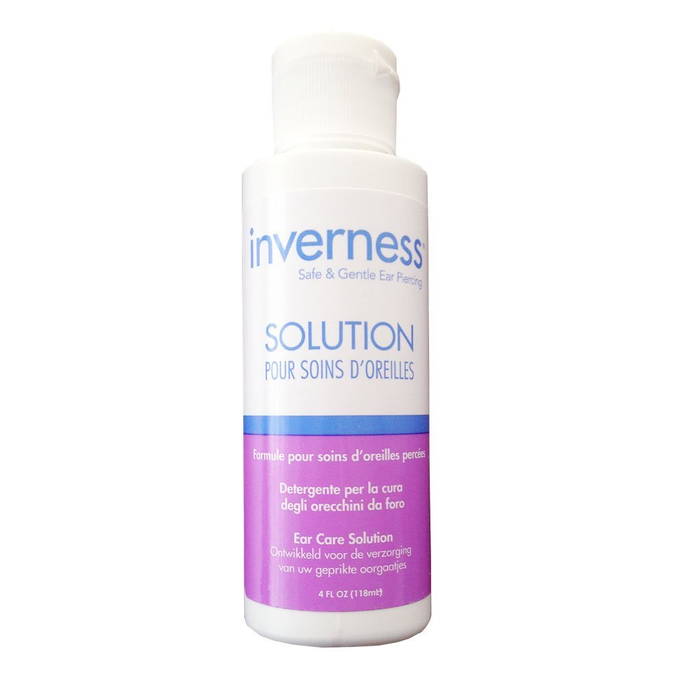 Amazon Com Inverness After Piercing Ear Care Solution 4 Oz Beauty