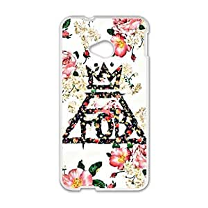 SANLSI Fall Out Boy Floral Logo Cell Phone Case for HTC One M7