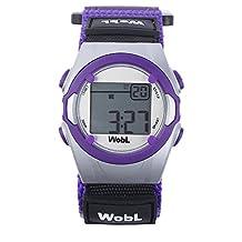 WobL Children's 8 Alarm Vibrating Watch - Purple