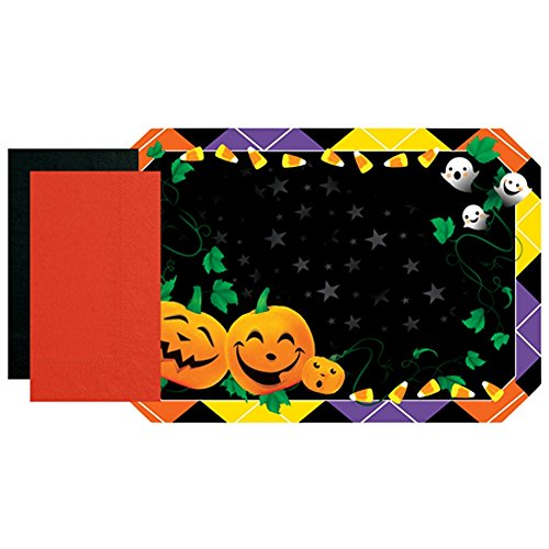 Halloween Paper Placemats With Napkins Set (10), black ()