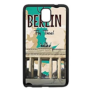 Berlin Black Silicon Rubber Case for Galaxy Note 3 by Nick Greenaway + FREE Crystal Clear Screen Protector