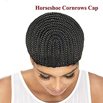 1PC Braided Cornrow Wig Caps For Making Wigs Black Stretch Net Adjustable Large Wig Cap Braided
