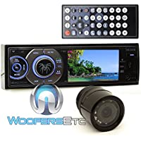 pkg Soundstream VR-345B In-Dash 1-DIN 3.4 DVD Stereo Receiver + XO Vision HTC 36 Backup Camera with Nightvision