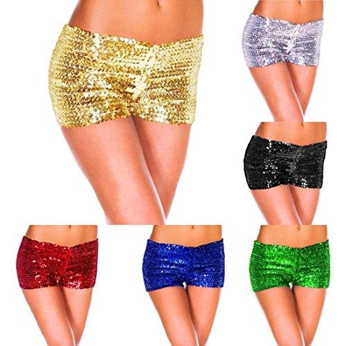 406939bce43e Pailletten Shorts Luckycat Sommerhosen Damen Kurz Mode Frauen Hohe Taille  Yoga Shiny Sport Hosen Shorts Metallic Hosen Shorts Hose Sommerhosen Shorts  Hosen  ...