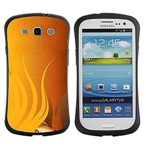 """Hypernova Slim Fit Dual Barniz Protector Caso Case Funda Para SAMSUNG Galaxy S3 III / i9300 / i747 [Amarillo Señora pelo de la mujer Pintura con clase""""]"""