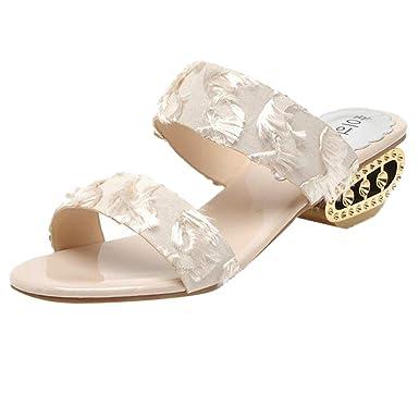 Darringls_Sandalias de Primavera Verano Mujer,Sandalia Punta Abierta Zapatos con Cordones Botines Zapatillas Tacon bajo: Amazon.es: Ropa y accesorios