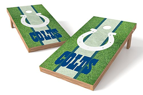 Indianapolis Colts Shield - Wild Sports NFL Indianapolis Colts 2' x 4' Field Authentic Cornhole Game Set