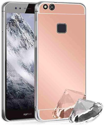 XCYYOO Funda Espejo para Huawei P10 Lite, Protectora Movil Carcasa ...