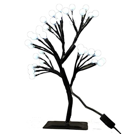MUNAN 15.8 Inch LED Cherry Blossom Tree Branches Light Table Lamp Night  Light Decoration For Indoor
