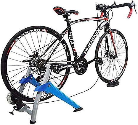 TTPF Cubiertas de Entrenamiento Bicicleta estática Soporte de reluctancia magnética Cubierta Entrenador de Bicicleta le Permite ejercer Moto,Blue: Amazon.es: Deportes y aire libre
