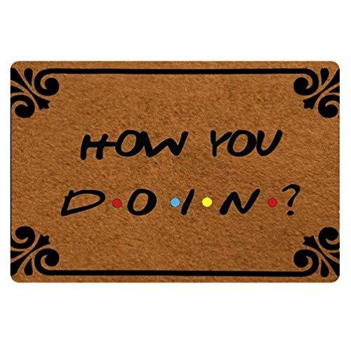 Coloranimal Area Entrance Doormat How You Doin Door Mats Non Slip Indoor/Outdoor Lightweight Brown Front Mat Funny Doormats ()
