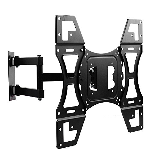 TV Wall Mount, Dual Arms Articulating Swivel Tilt TV Mounts Bracket for Most for 24 29 32 37 42 47 50 Inches LCD Plasma Flat Screen TVs Max VESA 400x400 mm Up To 88 Lbs with HDMI Cable