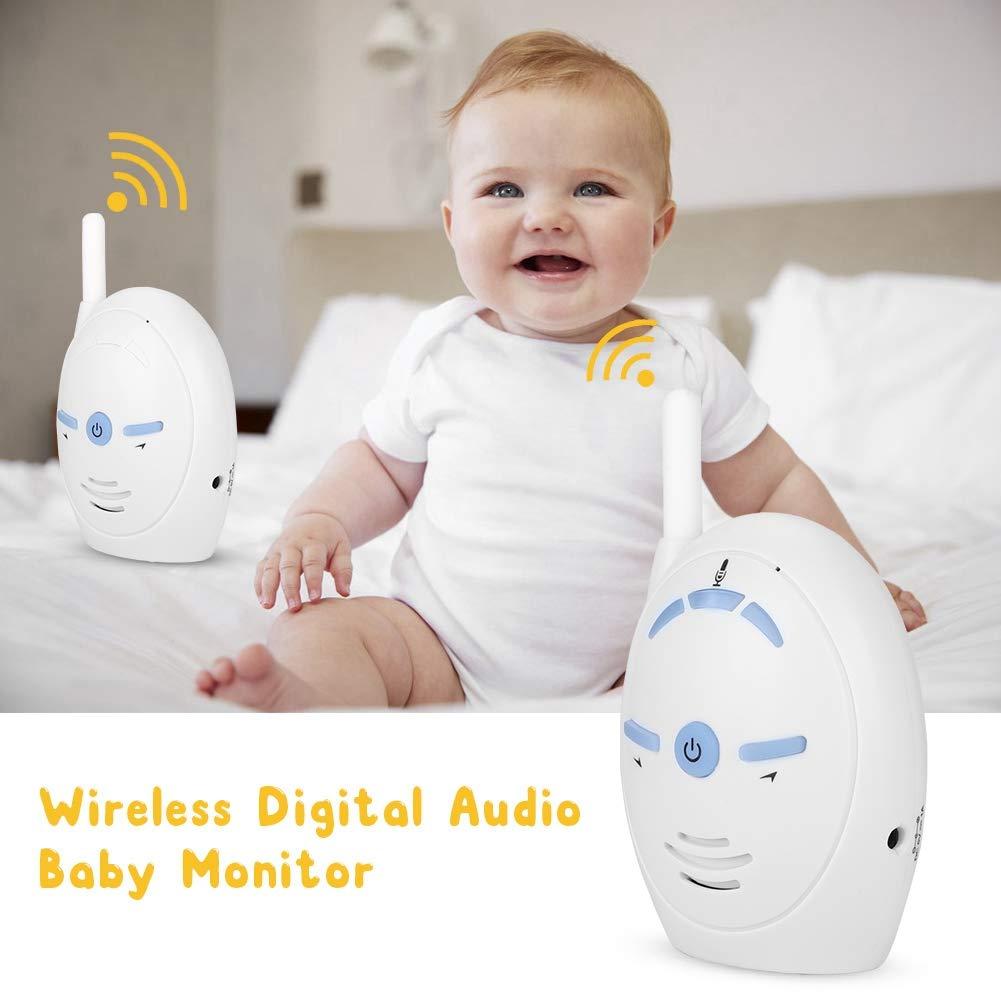 Monitor de intercomunicador inal/ámbrico para beb/és Monitor de Audio Digital inal/ámbrico de 2,4 GHz Monitor de beb/é C/ámara de intercomunicaci/ón para ni/ñera Alarma electr/ónica EU