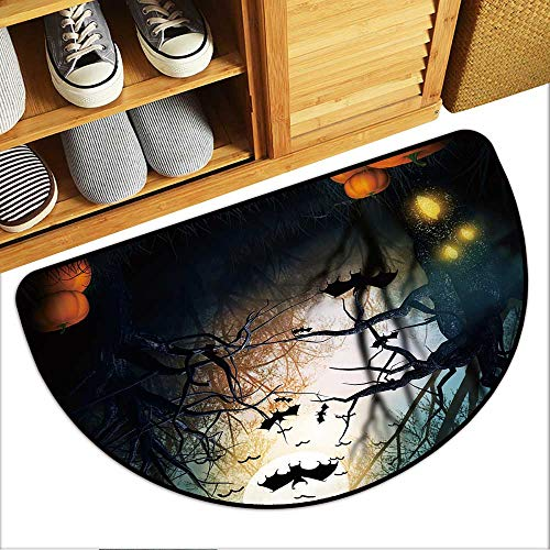 Front Welcome Entrance Door Mats Scary Halloween Backdrop