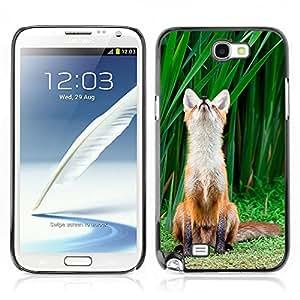 Carcasa Funda Case // V0000974 Fox Animal Pattern // Samsung Galaxy Note 2 N7100