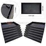 12 Piece 1 1/2'' Deep Black Plastic Display Tray Storage Stackable Organizers