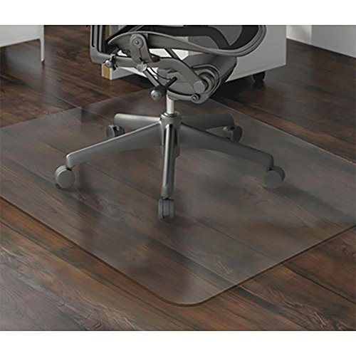 "BUZIO PVC Office Chair Mat for Hardwood Floor | Desk Chair Mat for Carpet | Eco-Friendly Multi-Purpose Chair Floor Protector | 100% Recycled Floor Mat for Office Or Home Use | Translucent, 36"" x 48"" by BUZIO"