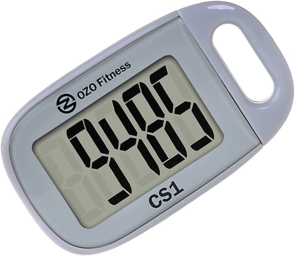 OZO Fitness CS1 Easy Pedometer for Walking   Step Counter with Large Display and Lanyard