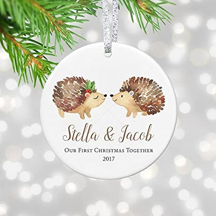 amazon com our first christmas together 2017 personalized gifts
