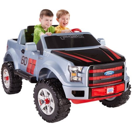 Fisher-Price Power Wheels Ford F-150 Extreme Sport / Monster Traction system drives on hard surfaces, wet grass and rough terrain