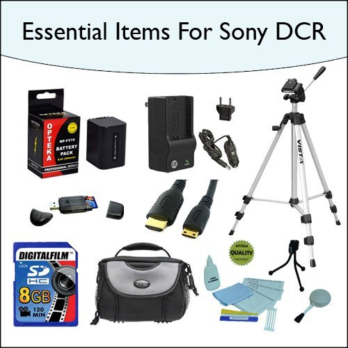 8GB Essentials Items Accessories Kit Including Opteka NP-...
