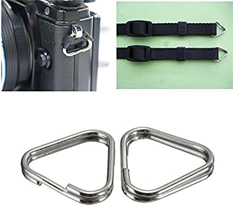 4X Universal Triangular Split Rings For Camera Back Belt Strap Buckle Accessory